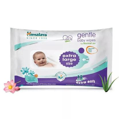 Picture of Himalaya Gentle Baby Wipes 12's(Extra Large)