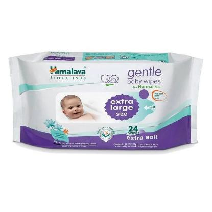 Picture of Himalaya Gentle Baby Wipes 24's(Extra Large)