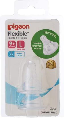 Picture of Pigeon Flexible Peristaltic Nipple Blister Pack 2Pcs/Set (L)