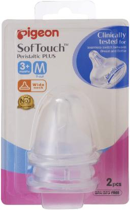 Picture of Pigeon Softouch Peristaltic Plus Nipple Blister Pack 2Pc (M)