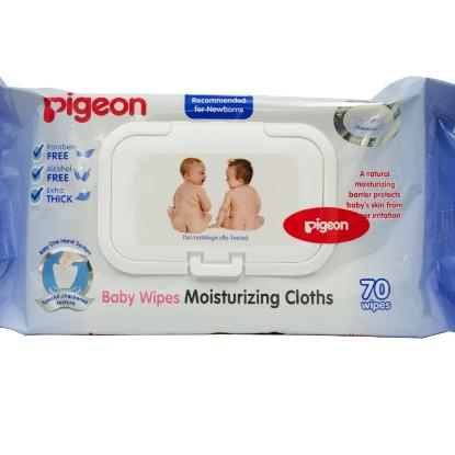Picture of Pigeon Baby Wipes 99% Water, 82S