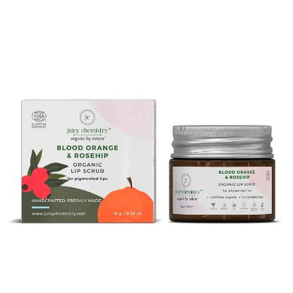 Picture of Juicy Chemistry Organic Lip Scrub for Pigmented Lips with Blood Orange and Rosehip 10gm