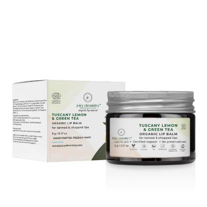 Picture of Juicy Chemistry Lip Balm for Tanned & Chapped Lips with Tuscany Lemon & Green Tea 5gm