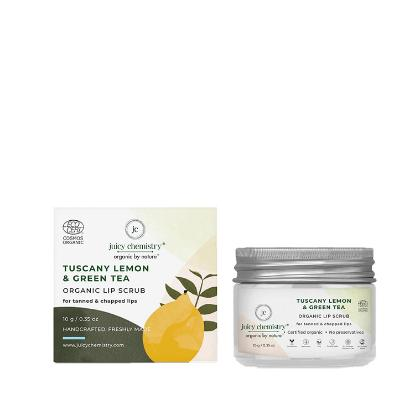 Picture of Juicy Chemistry Lip Scrub for Tanned & Chapped Lips with Tuscany Lemon & Green Tea 10gm