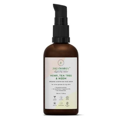 Picture of Juicy Chemistry Face Wash for Acne Prone and Oily Skin with Hemp, Tea Tree and Neem 100ml