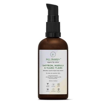 Picture of Juicy Chemistry Face Wash for Dull and Mature Skin with Saffron, Marula and Ylang Ylang 100ml