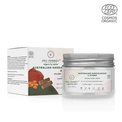 Picture of Juicy Chemistry Organic Night Cream for Anti-Ageing and Pigmentation Control with Australian Sandalwood and Myrrh 25 gm