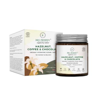 Picture of Juicy Chemistry Organic Hydrating Scrub/Mask with Hazelnut, Coffee and Chocolate 75gm