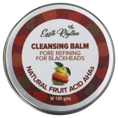 Picture of Earth Rhythm Pore Refining Cleansing Balm With Natural Fruit Ahas - 100gm