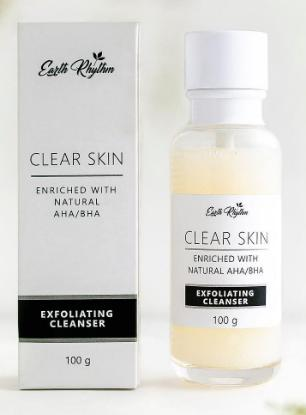 Picture of Earth Rhythm Clear Skin Exfoliating Face Cleanser With AHA & BHA - 100ml