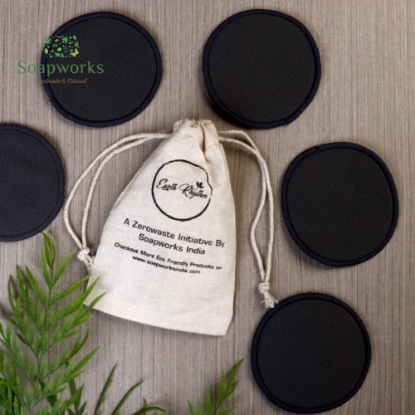 Picture of Earth Rhythm Bamboo Charcoal Face Cleansing Pad (Set of 5)