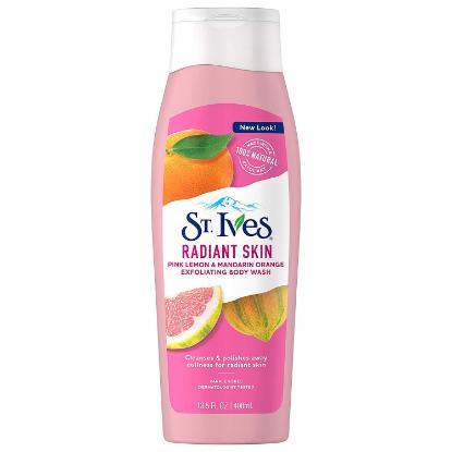 Picture of St. Ives Radiant Skin Pink Lemon & Mandarin Orange Exfolating Body Wash-400ML