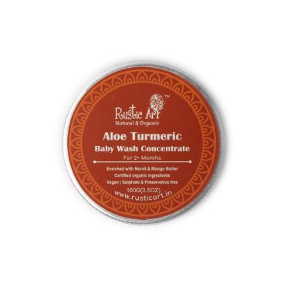 Picture of Rustic Art Aloe Turmeric Baby Wash Concentrate 100gm