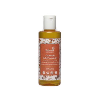 Picture of Rustic Art Organic Calendula Baby Massage Oil 200ml