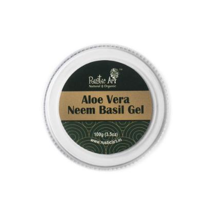 Picture of Rustic Art Aloe Vera Neem Basil Gel (For Babies) 100gm