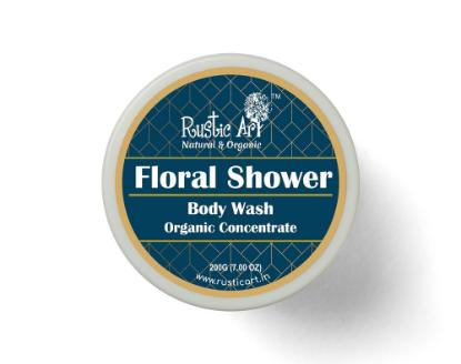 Picture of Rustic Art Floral Shower Body Wash Concentrate 100gm