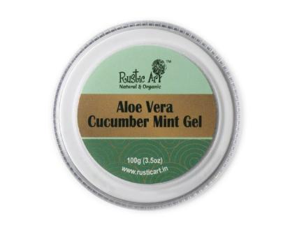Picture of Rustic Art Aloe Vera Cucumber Mint Gel 100gm