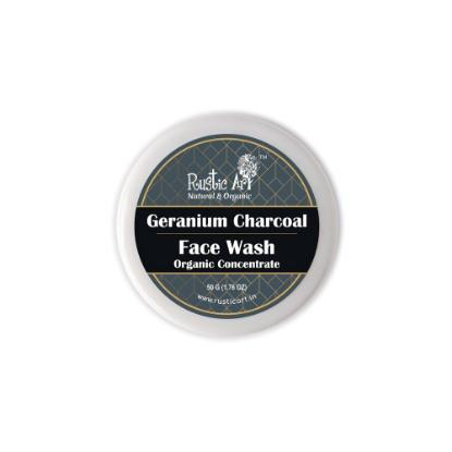 Picture of Rustic Art Organic Geranium Charcoal Face Wash Concentrate 50gm