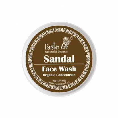 Picture of Rustic Art Organic Sandal Face Wash Concentrate 50gm