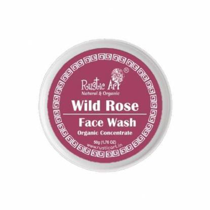 Picture of Rustic Art Organic Wild Rose Face Wash Concentrate 50gm