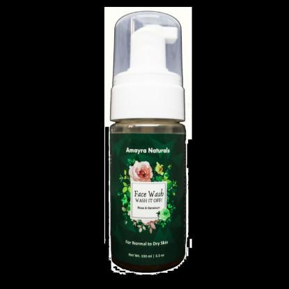 Picture of Amayra Naturals Rose & Geranium Face Wash 100ml