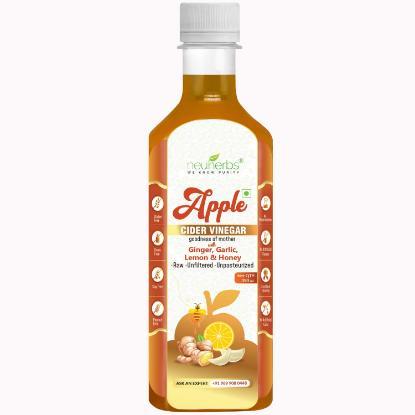 Picture of Neuherbs Apple cider vinegar with garlic,honey,lemon & ginger 350ml