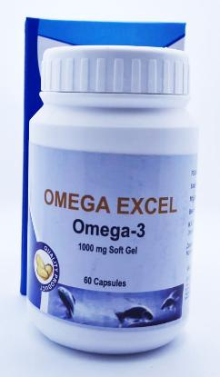 Picture of Omega Excel Omega-3 1000mg Soft Gel Capsule 60'Bottle
