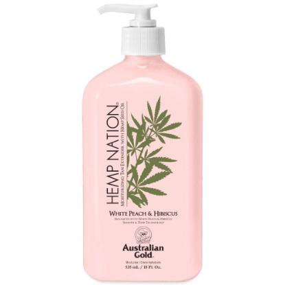 Picture of Australian Gold Hemp Nation Body Lotion White Peach and Hibiscus  535ml