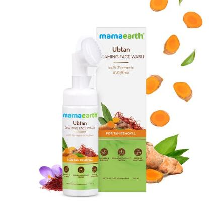 Picture of Mamaearth Ubtan Foaming Face Wash with Turmeric & Saffron for Tan Removal