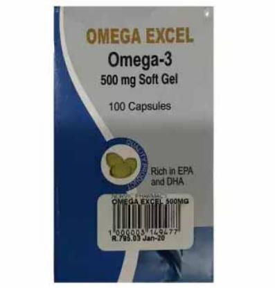 Picture of Omega Excel 500mg 100'S