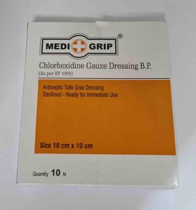 Picture of Medi+Grip Chlorhexidine Gauze 10pcs