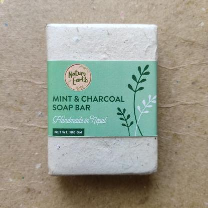 Picture of Naturo Earth Mint and Charcoal Soap 100gm