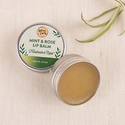 Picture of Naturo Earth Mint and Rose Lip Balm 20gm