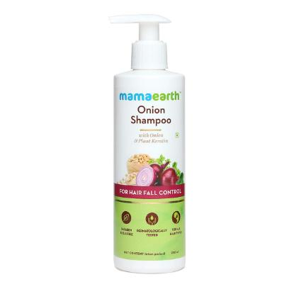 Picture of Mamaearth Onion Shampoo for Hair Growth and Hair Fall Control with Onion Oil and Plant Keratin 250ml
