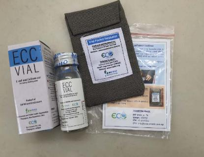 Picture of ECC Vial with Vial Pocket Incubator